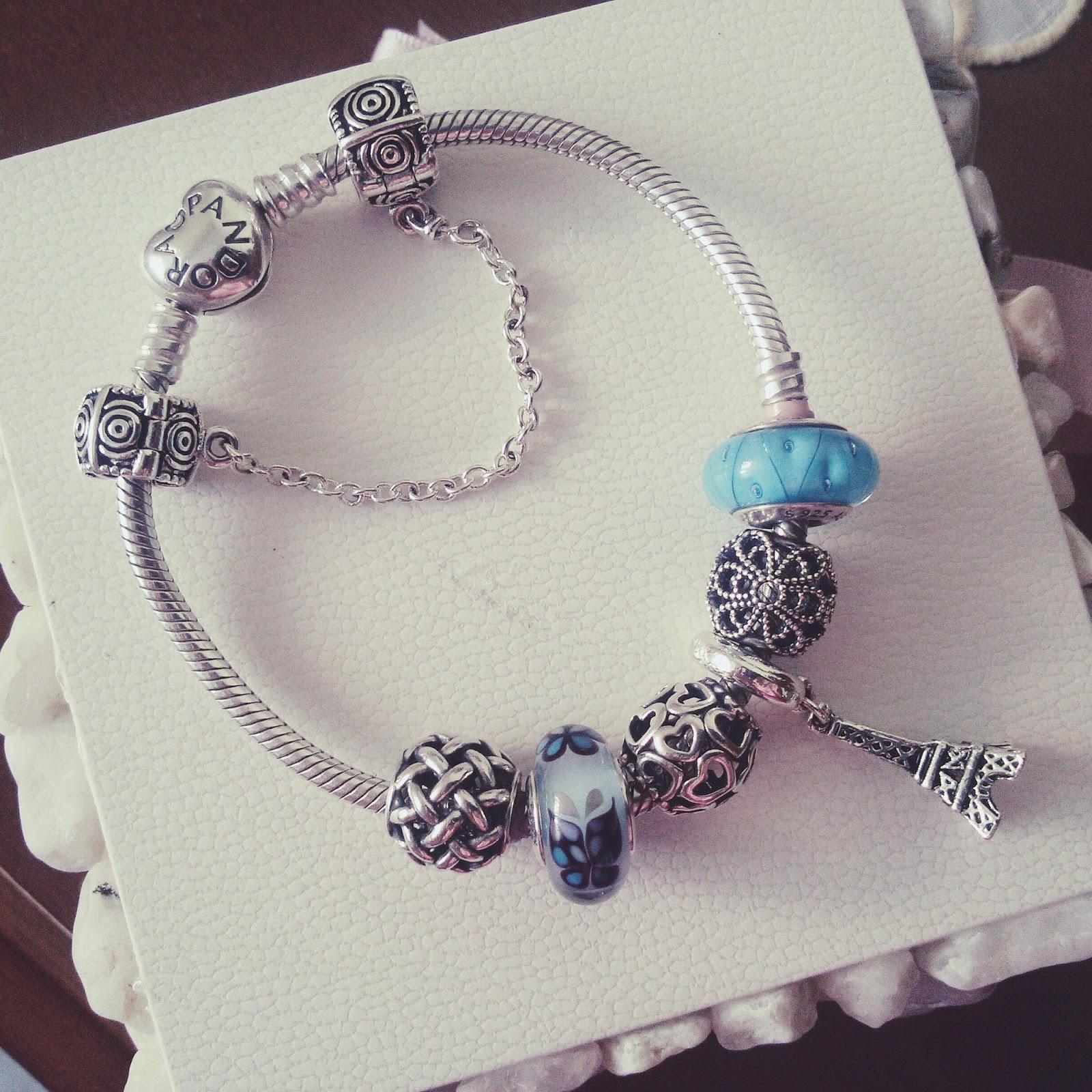 bracciale pandora azzurro